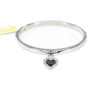 Michael Kors Logo Heart Crystal Paved Bracelet